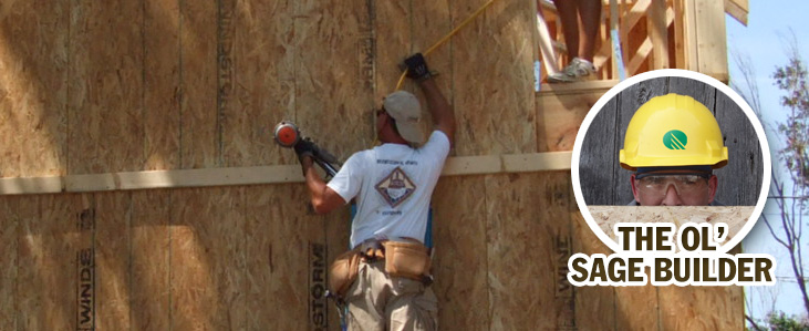 Critical Nails for Wall Sheathing Installation