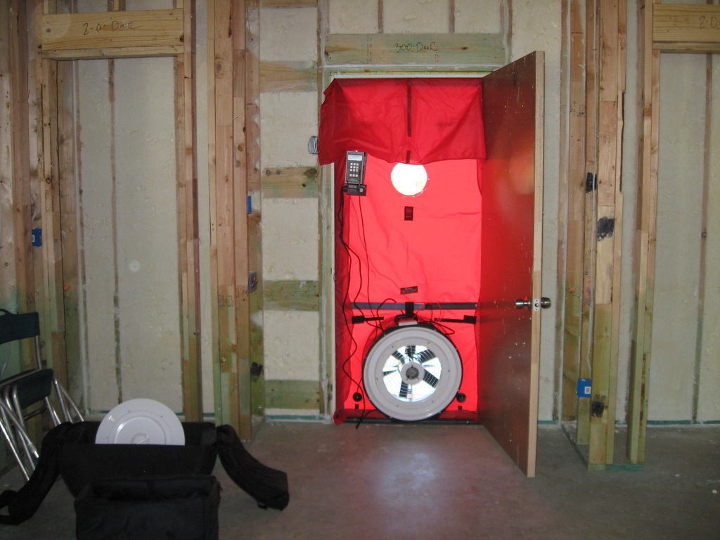 With Blower-Door Tests,Timing is Everything